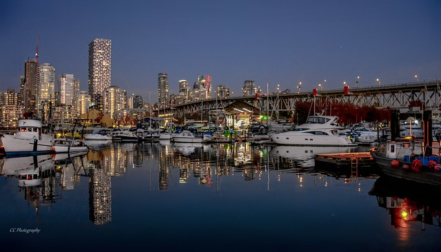 Blue Hour Blues  - False Creek Nightscape - Vancouver, BC