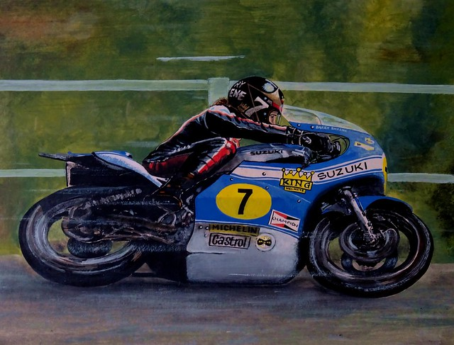 Barry Sheene Oil Painting
