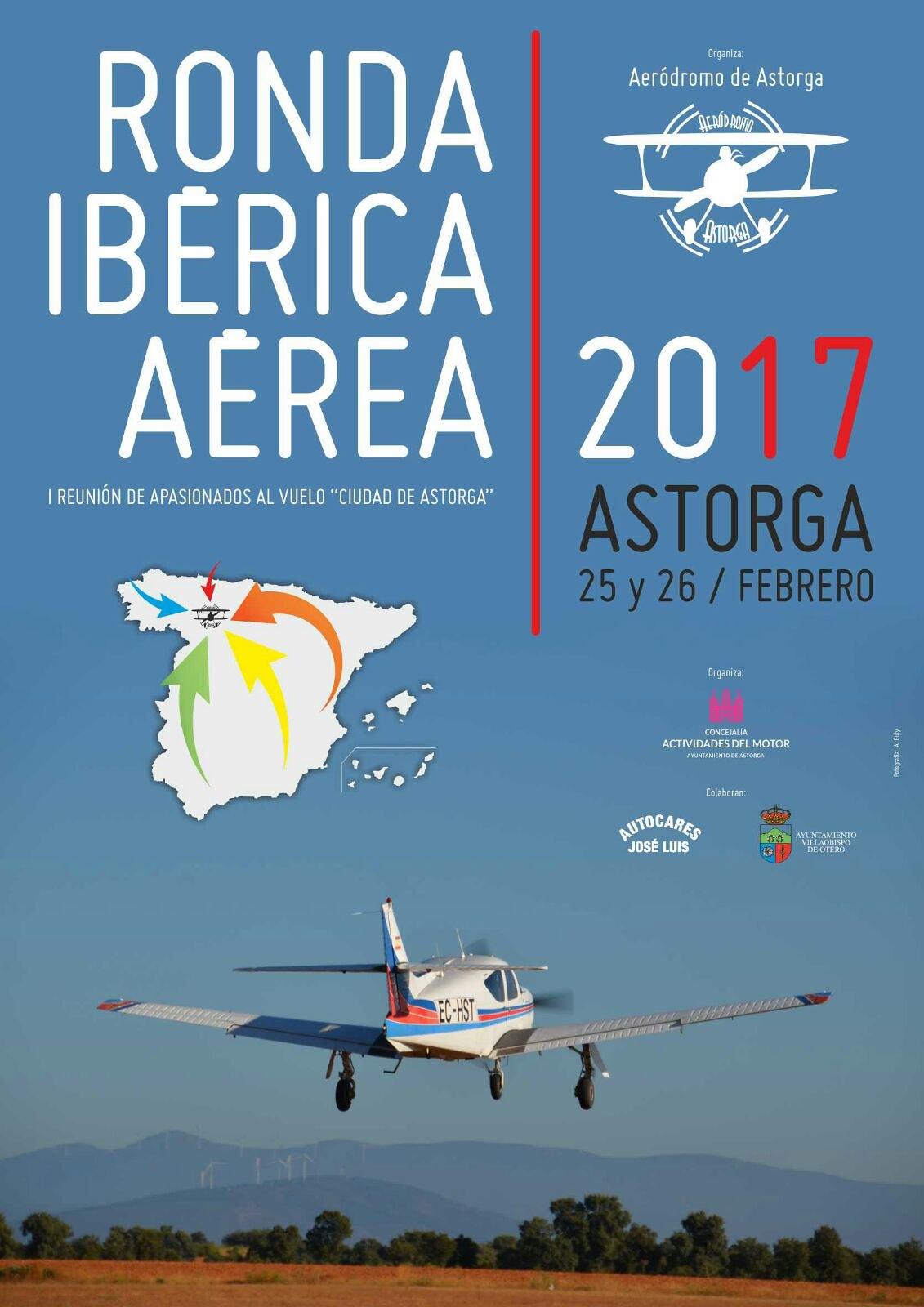 Cartel Ronda Iberica Aerodromo de Astorga