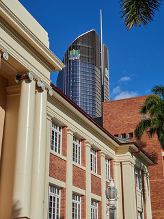 "The ""Tower of Power"" behind the Queensland University of Technology Art Museum 