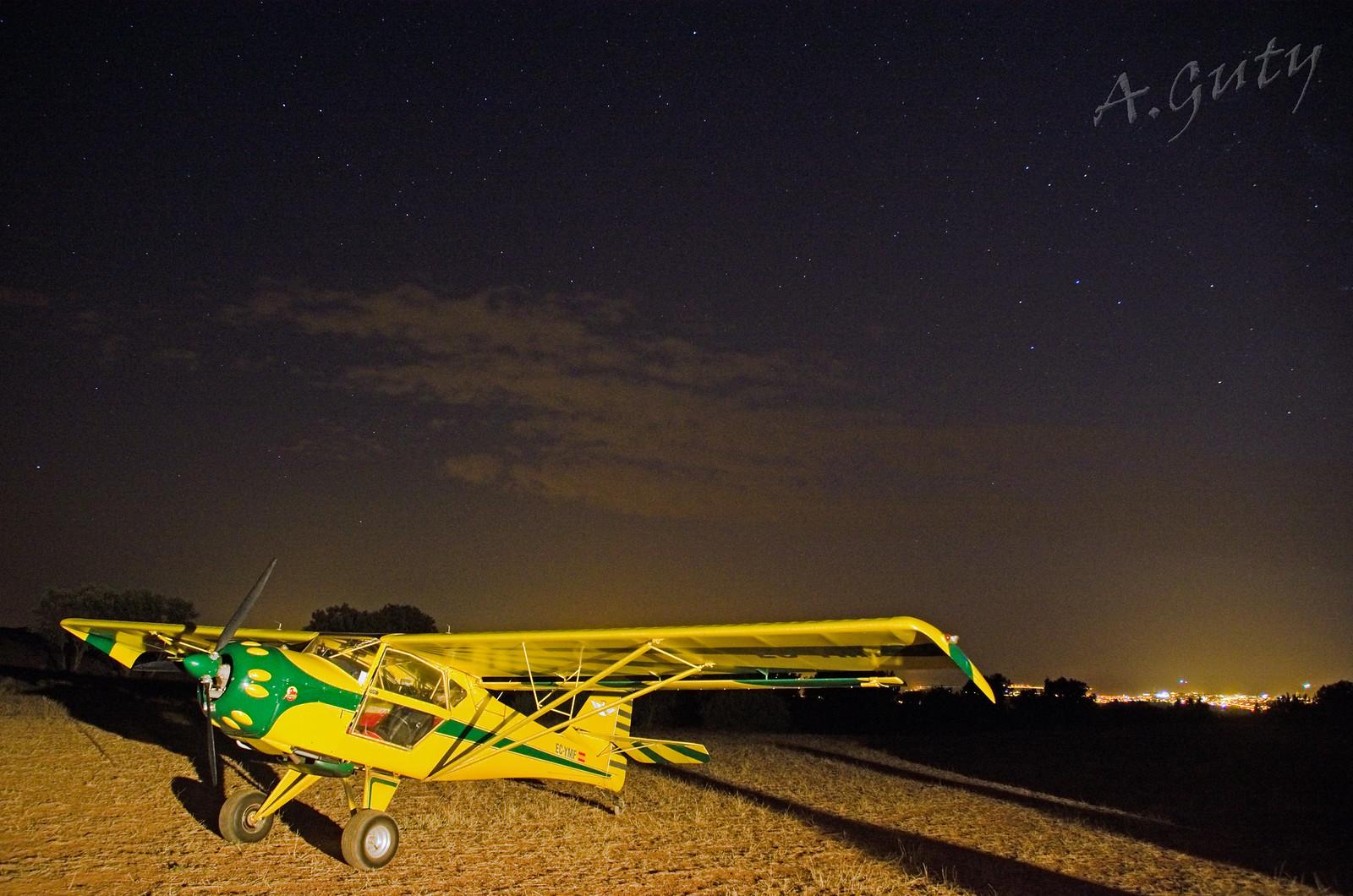 Cena Club Aerodromo Astorga Kitfox  hangar noche (65)