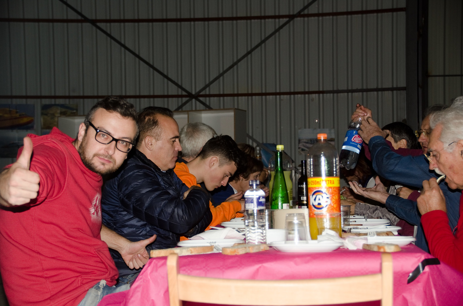 Cena Club Aerodromo Astorga Kitfox  hangar noche (41)