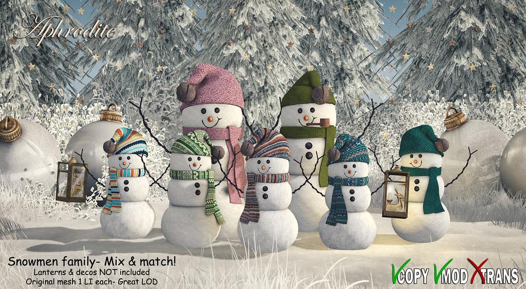 Aphrodite- Snowmen family