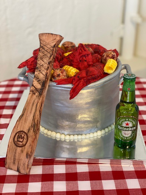 King Cooker Crawfish Boil Cake from Alise Colombo McClung of Cakes By Alise