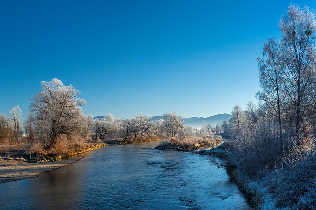 Cold morning by the river