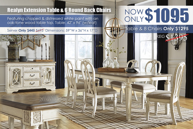 Realyn Rectangular Extension Dining Table & 6 Round Back Chairs_D743-45-02(6)_Update