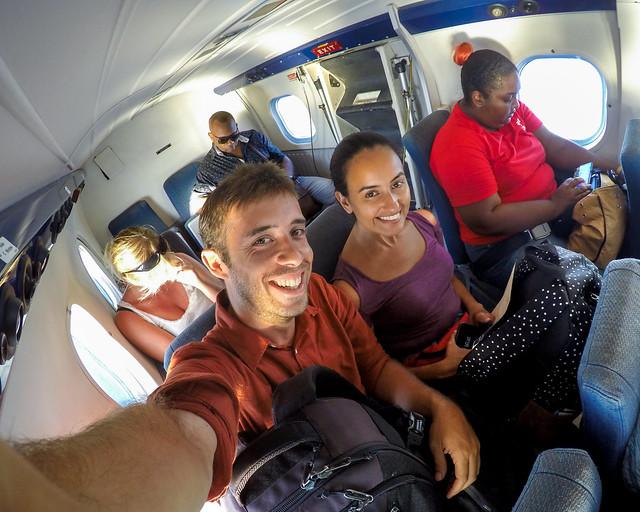 En un avión en Seychelles
