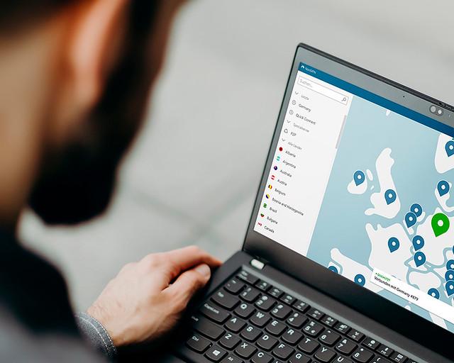 Aplicación Nord VPN para buscar vuelos baratos