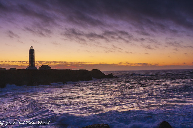 Point Arena Lighthouse at Sunset JNB4205