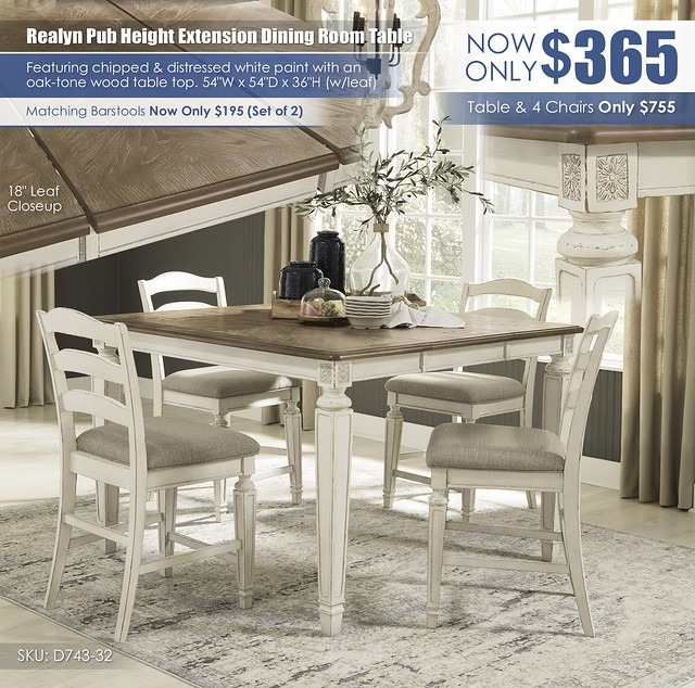 Realyn Pub Extension Dining Table_D743-32-124(4)