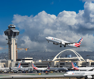 American Airlines at LAX in 2018