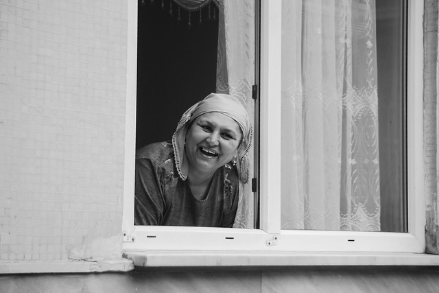 Woman at window (Explored)