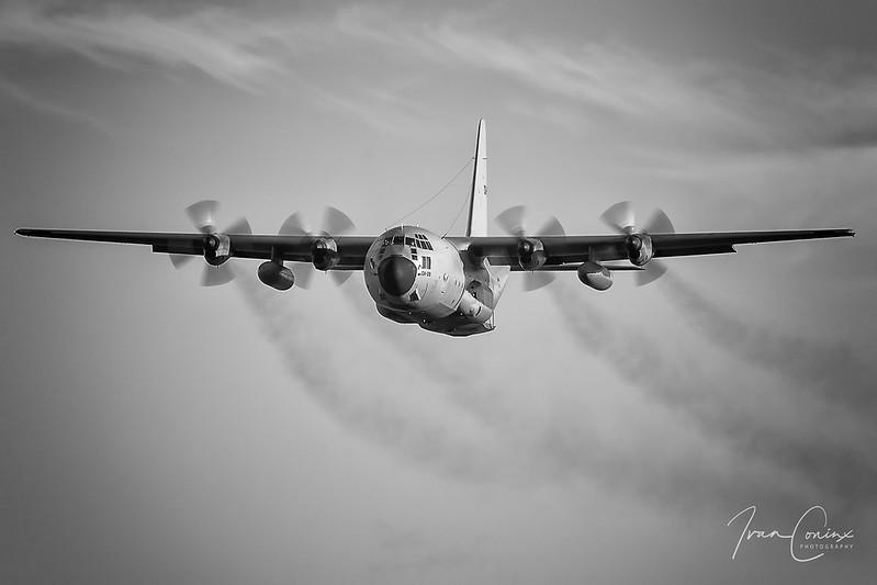 Lockheed C-130H Hercules – Belgium-Air Force – CH-09 – Brussels Airport (BRU EBBR) – 2020 12 18 – Landing RWY 25L – 03 – Copyright © 2020 Ivan Coninx