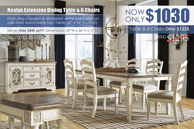 Realyn Rectangular Extension Dining Table & 6 Chairs_D743-45-01(6)-60_Update