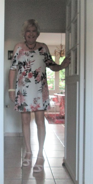 Floral dress in the afternoon