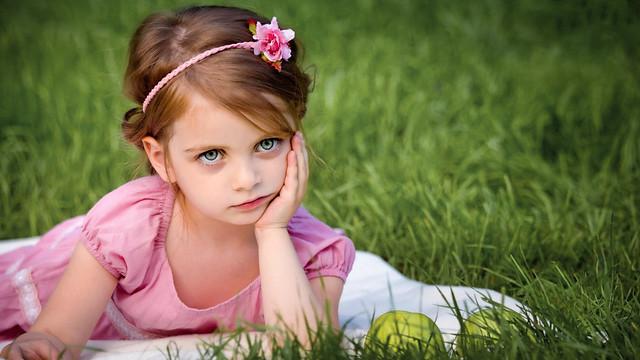 Girl in Grass Portrait