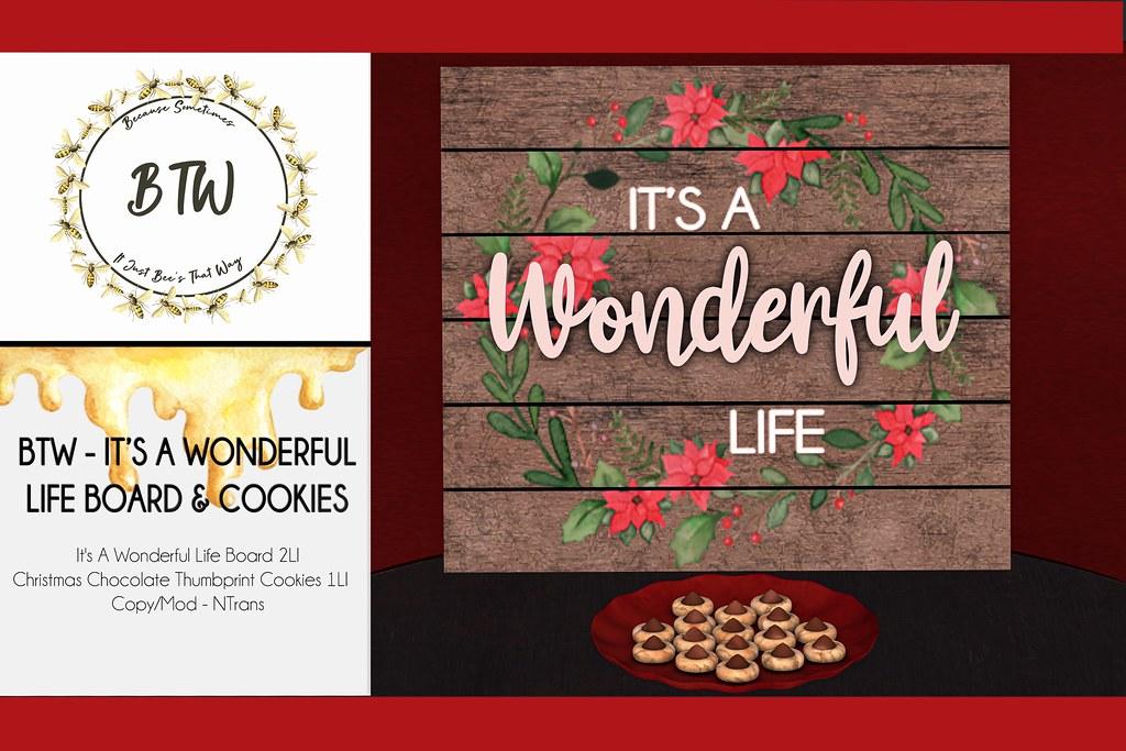 BTW – Wonderful Life Board & Cookies
