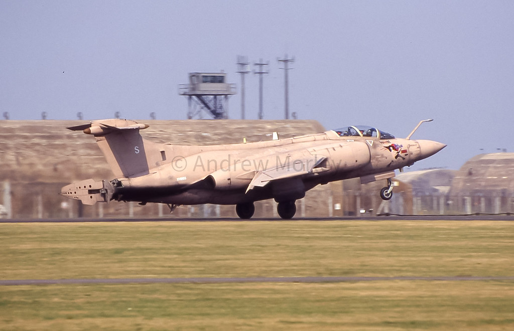 Buccaneer S.2B of 208 Squadron at RAF Upper Heyford Sky Pageant 1991
