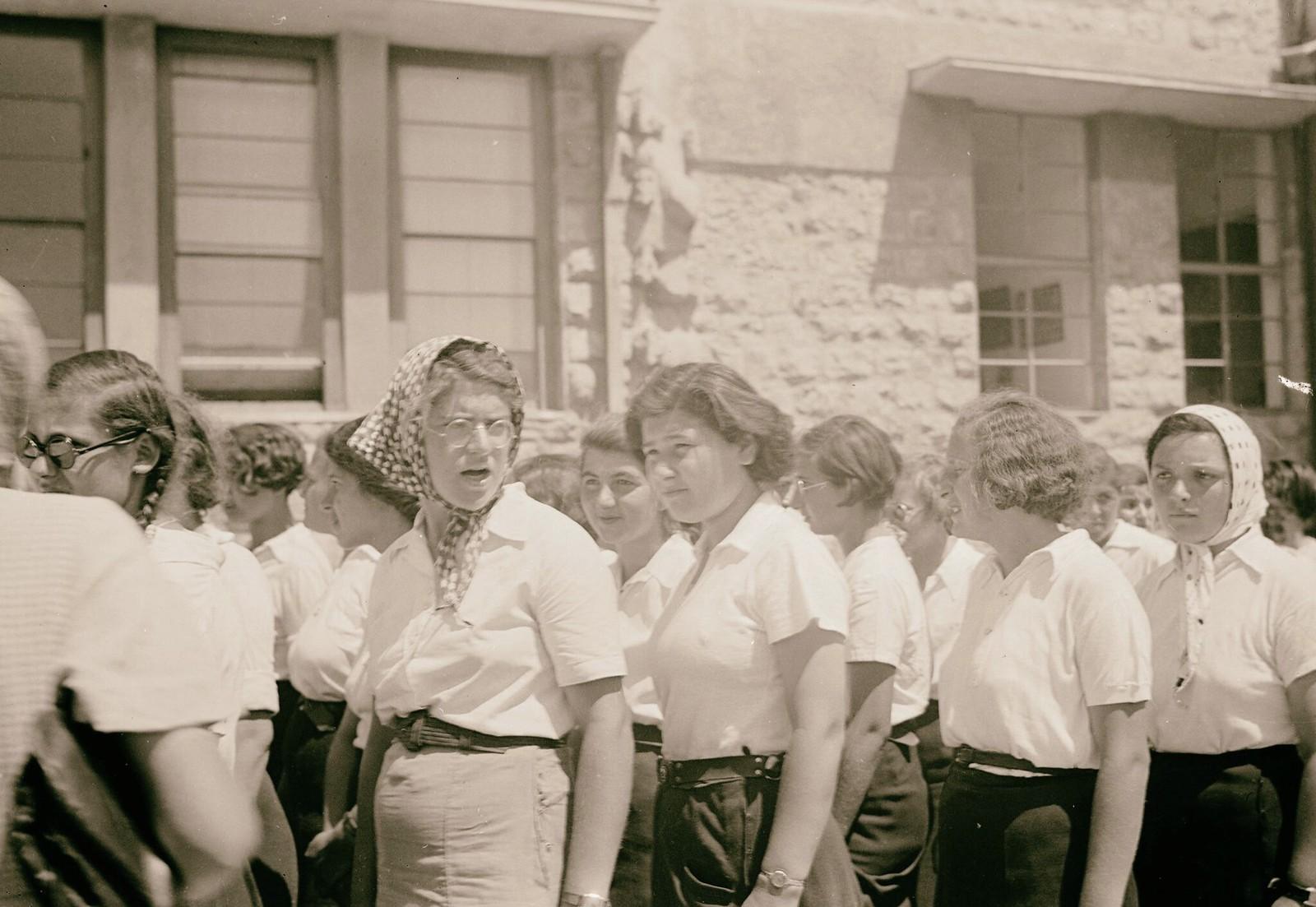 12. Еврейские демонстрации протеста Белой книги. Ученицы гимназии «Рехавия»18 мая