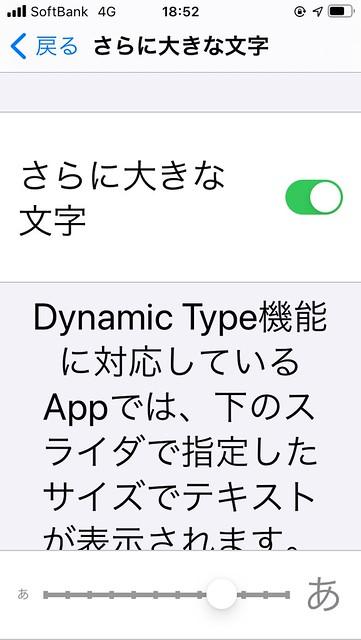 iPhone SEで設定している文字サイズ