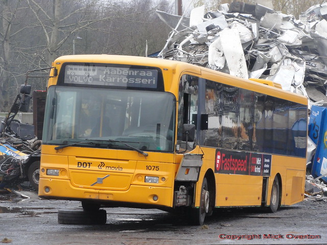 Last survivor of the 1st production batch of Danish bodied 2002 Volvo B12BLE 1075 gets scrapped having completed 9 years more service than the bus that followed it downline