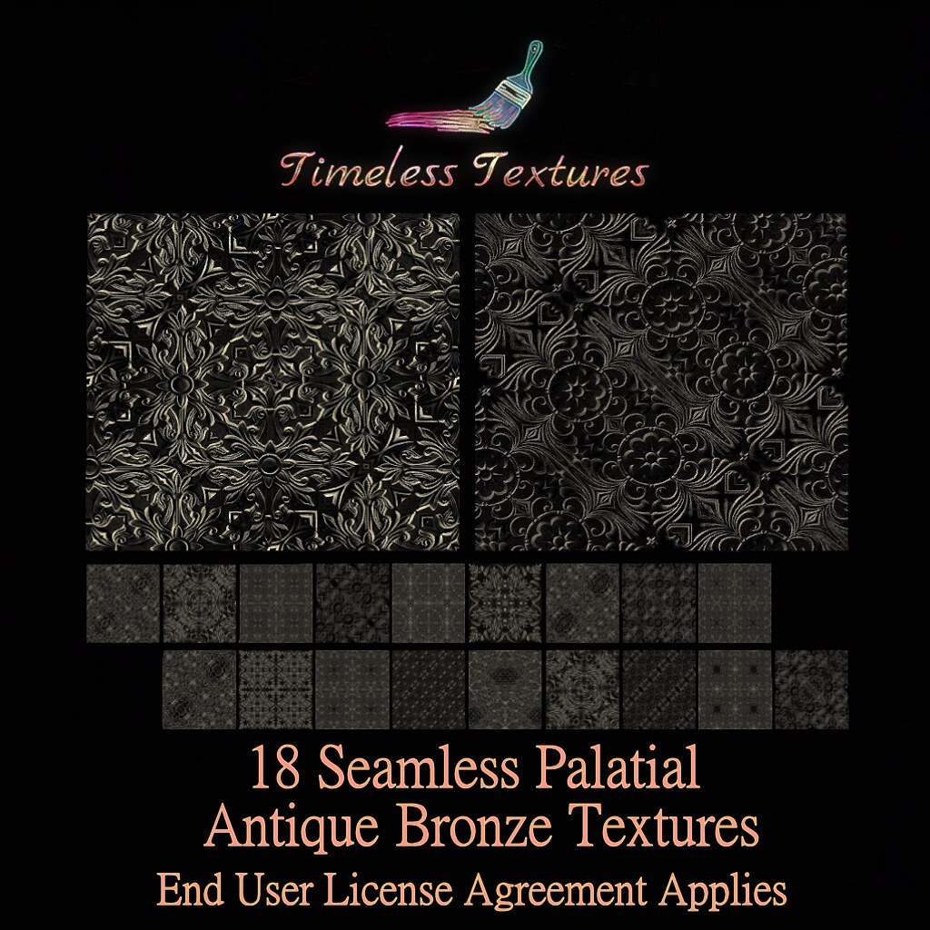 2020 Advent Gift Dec 20th – 18 Seamless Palatial Antique Bronze Timeless Textures