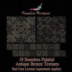 2020 Advent Gift Dec 20th - 18 Seamless Palatial Antique Bronze Timeless Textures