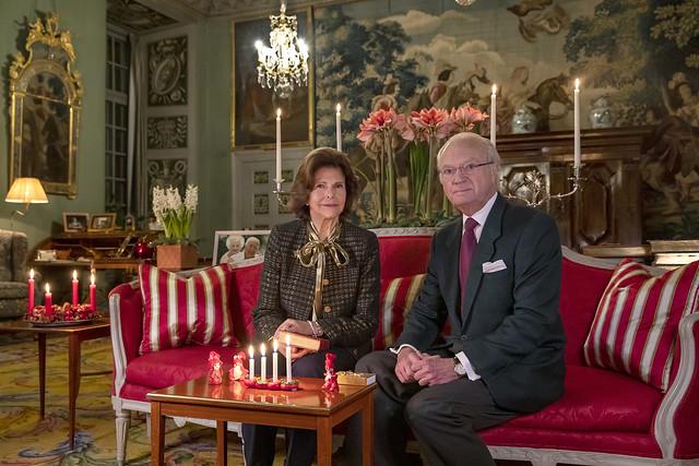 Advent Groet Koning Carl Gustav en Koningin Silvia van Zweden (2020)