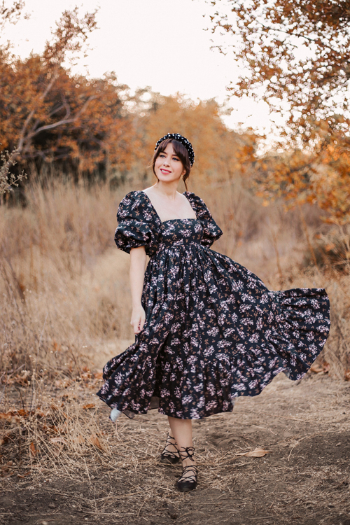 Selkie Winter Jasmine French Puff Dress