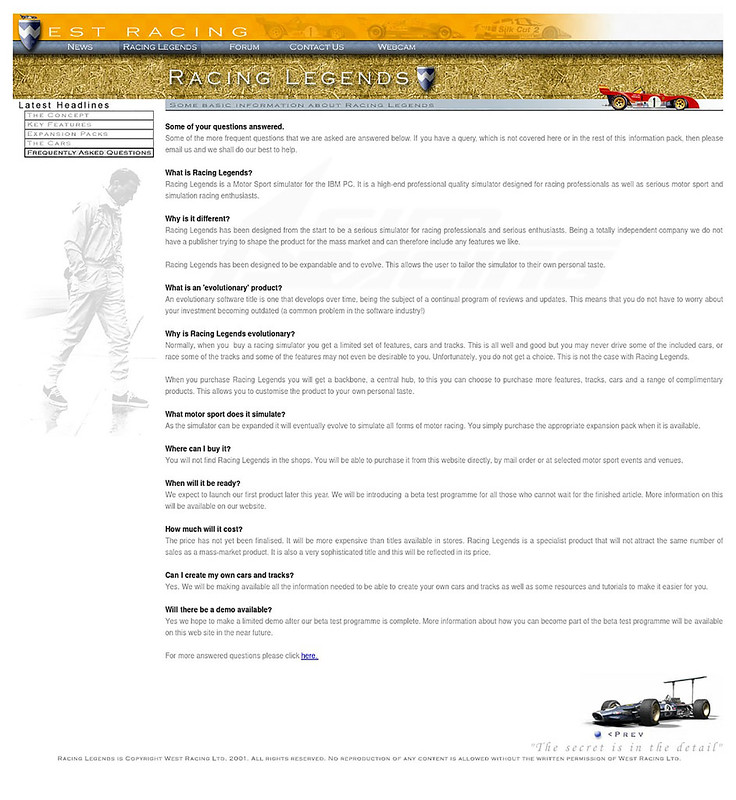 Racing Legends Expansion FAQ