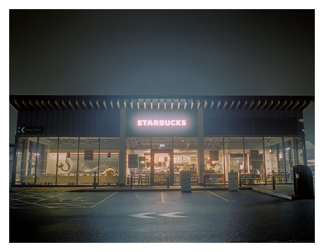 Coffee shop after closing