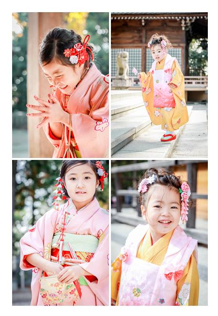 姉妹そろって七五三 神社へお参り 女性カメラマンが出張撮影
