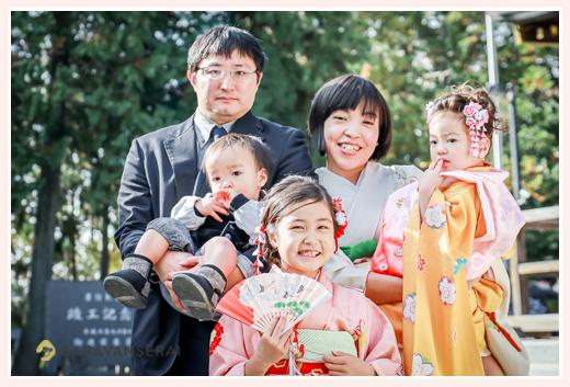 七五三 家族写真 ママもお着物