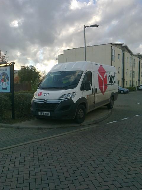 DPD van - parking like an idiot
