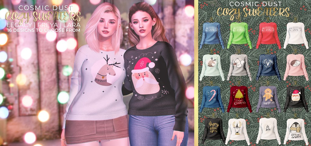 [Cosmic Dust] – Cozy Sweaters @ N21