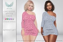 [Ari-Pari] One Sleeve Winter Dress