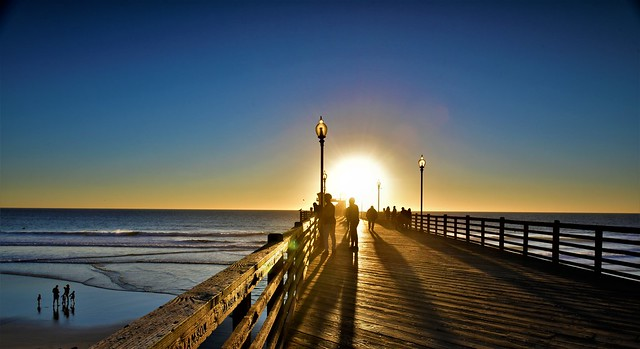 Oceanside Pier CA, the last day of Autumn shortest day time of the year