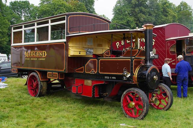 M 5798 1914 Foden Steam Bus Midland, Red Steam Omnibus