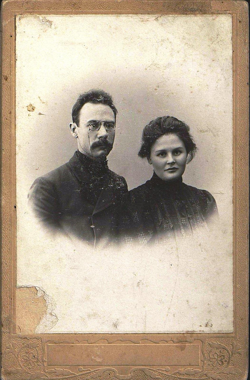 03. Локушевский Иннокентий Алексеевич и его жена Вера. 1910-1912