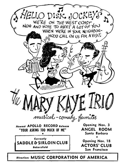 1948 mary kaye trio