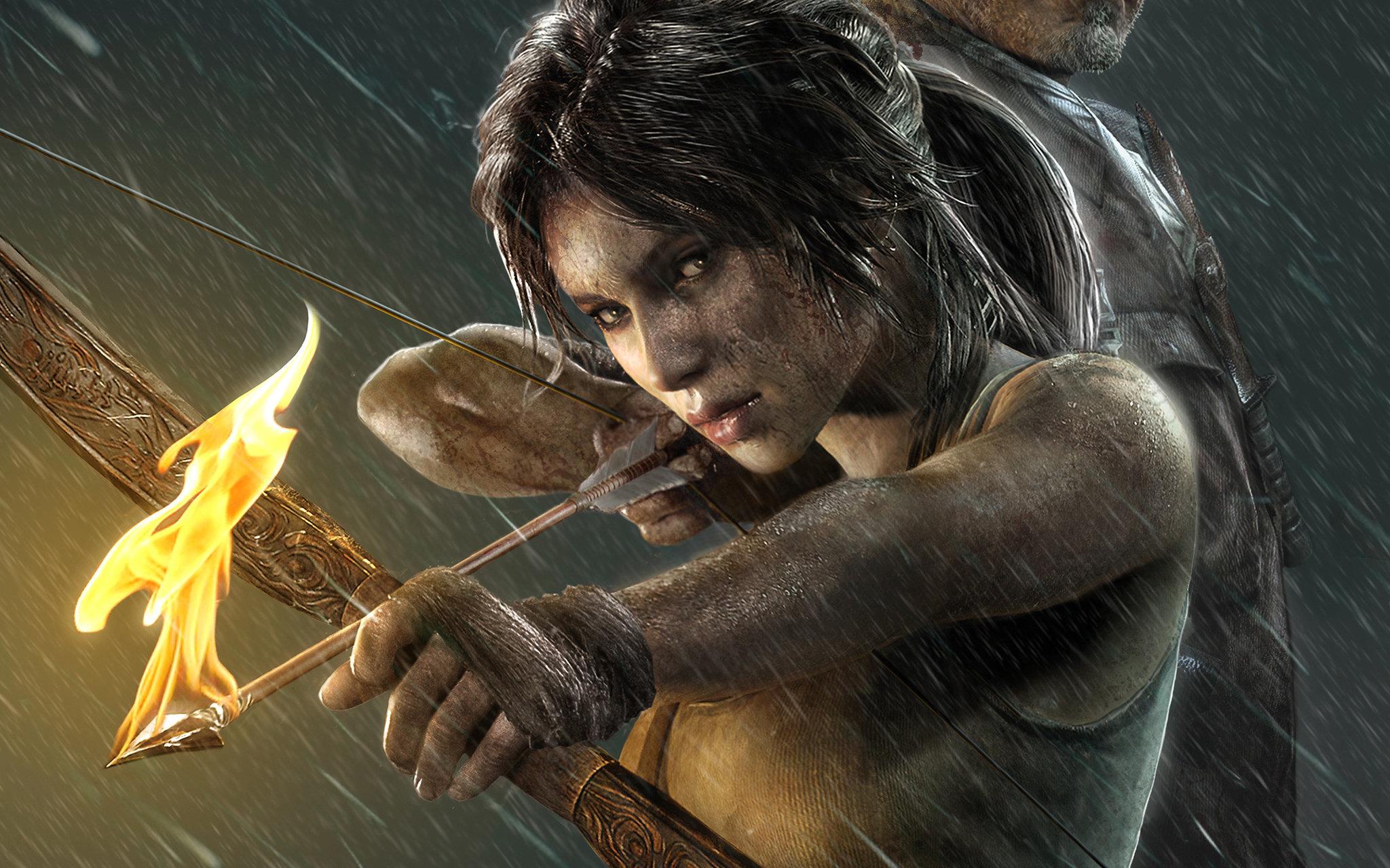 лара крофт обзор игры, Tomb Raider хрупкая девушка