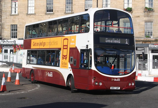 20200924 - 1510 - Lothian (Lothian Buses) - Wright Gemini - No 871 - Route 1 - London Road & Elm Row Roundabout - Edinburgh