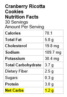 Image: Nutrition Information