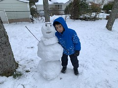 Ezra and Snowperson