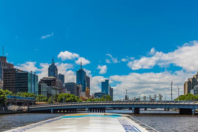 Die Queens Bridge in Melbourne