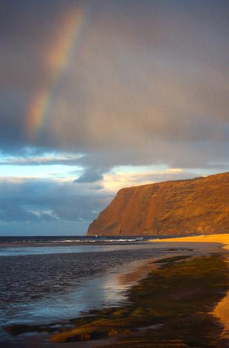 Rainbow at Polihale Beach