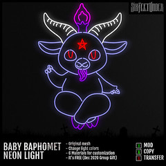 Six Feet Under - Baby Baphomet Neon (Group Gift)