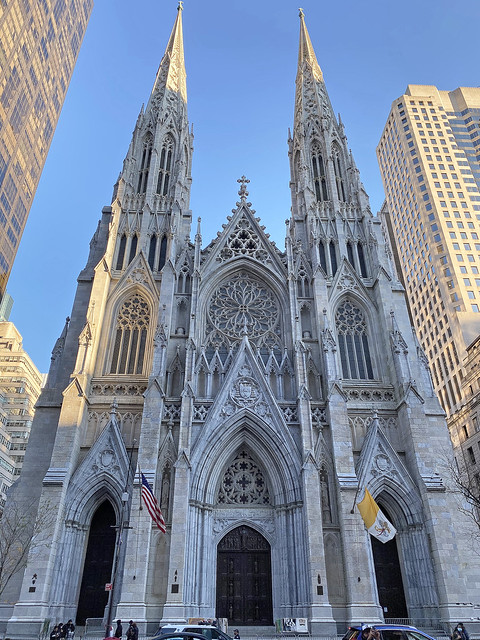 Picture Of Saint Patrick's Cathedral Located At Fifth Avenue Between 50th and 51st Streets In New York City. Photo Taken Saturday November 14, 2020