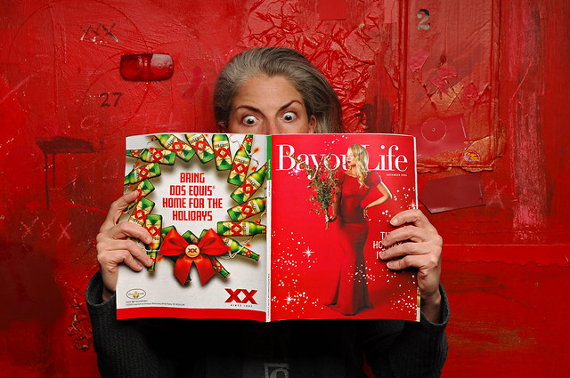 Marynell finds her photos in the Christmas edition of Bayou Life