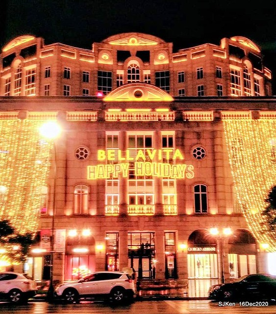Christmas decoration of Bellavita Department store, Taipei, Taiwan, Dec 16, 2020,SJKen.